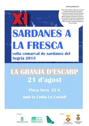 Sardanes a la Fresca a La Granja d'Escarp