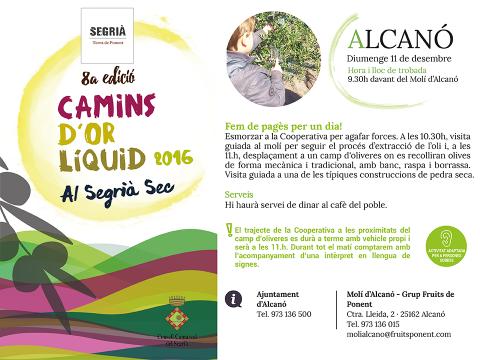 Segrià Turisme - Camins d'or líquid - Alcanó