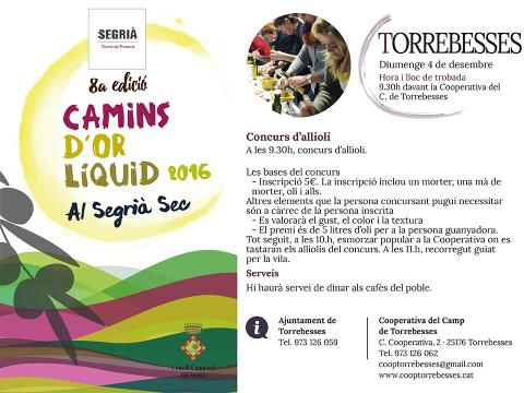 Segrià Turisme - Camins d'or líquid - Torrebesses