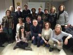 Trobada d'entitats participants a les Sardanes a la Fresca